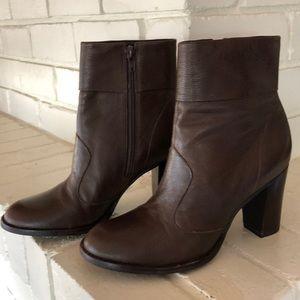 Gianni Bini Nestle Brown Leather Boot